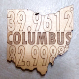 Latitude Longitude Ohio Cities Coaster - Celebrate Local, Shop The Best of Ohio