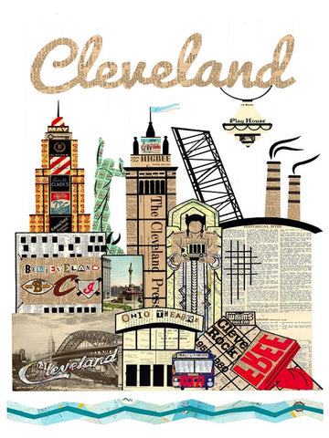 Cleveland Skyline Special Edition Print 11 in x 17 in - Celebrate Local, Shop The Best of Ohio