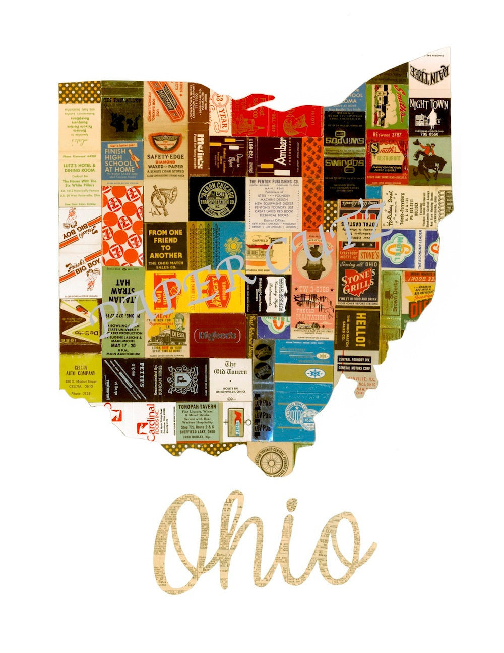 Ohio Matchbook Vintage  Notecard Set - Celebrate Local, Shop The Best of Ohio