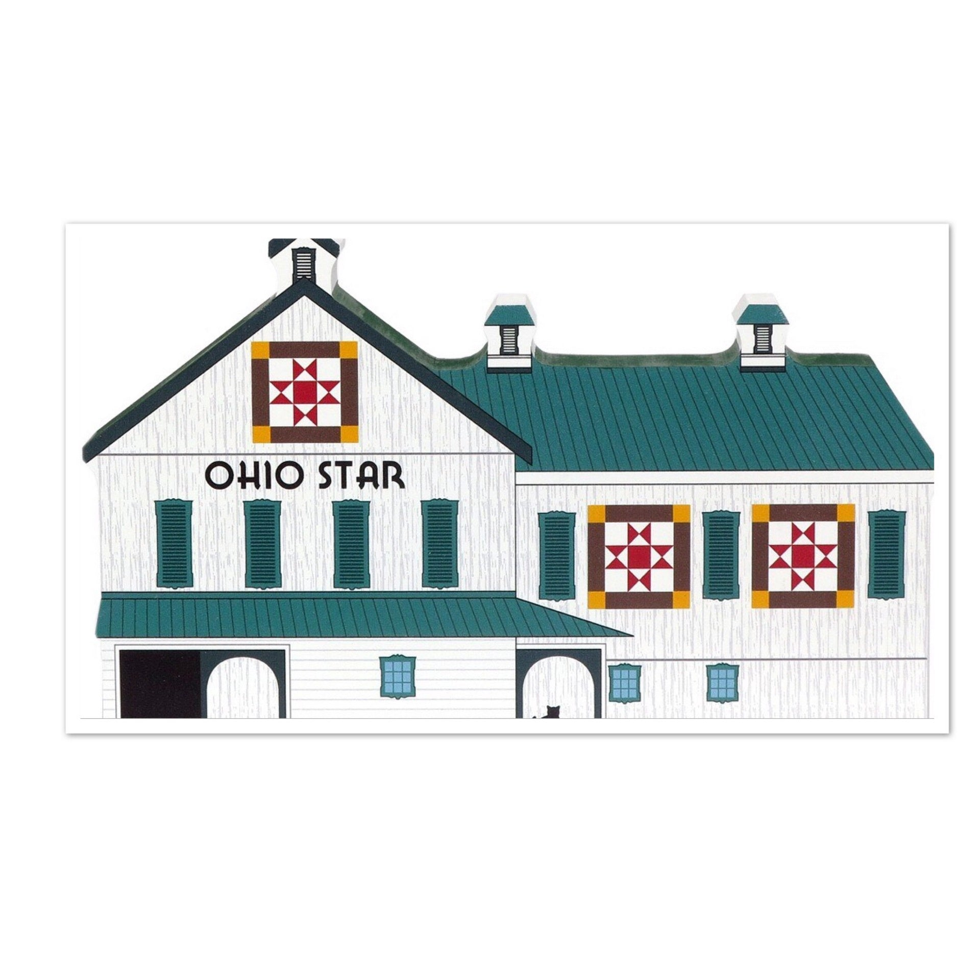 Ohio Star Quilt Barn Wood Shelf Sitter - Celebrate Local, Shop The Best of Ohio
