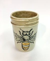 Honey Bee Ceramic Mason Jar