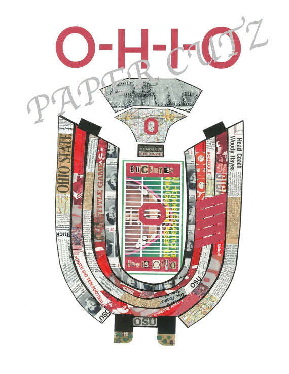 Ohio Stadium Vintage Print 11 x 17 - Celebrate Local, Shop The Best of Ohio