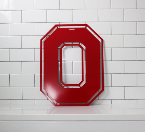 Block O Ohio State Steel Door Hanger - Officially Licensed - Celebrate Local, Shop The Best of Ohio