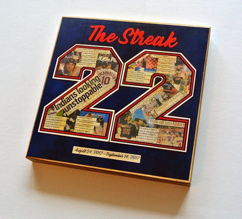 The Streak -Cleveland Indians Wood Print 8x8 - Celebrate Local, Shop The Best of Ohio