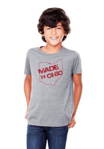 Made In Ohio T- Shirt - Youth - Gray - Celebrate Local, Shop The Best of Ohio
