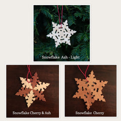 Snowflake Wood Ornament - Celebrate Local, Shop The Best of Ohio