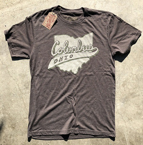 Vintage Columbus Ribbon T-Shirt - Celebrate Local, Shop The Best of Ohio