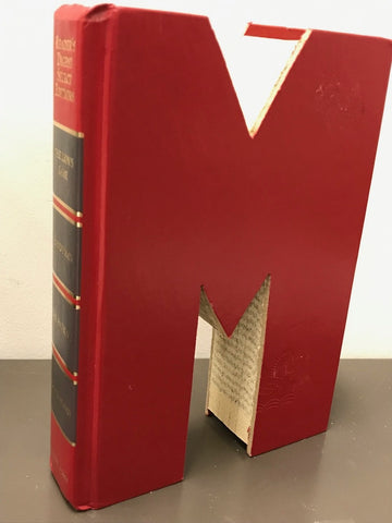 Large Alphabet Letter Upcycled Book Cut Out - Celebrate Local, Shop The Best of Ohio