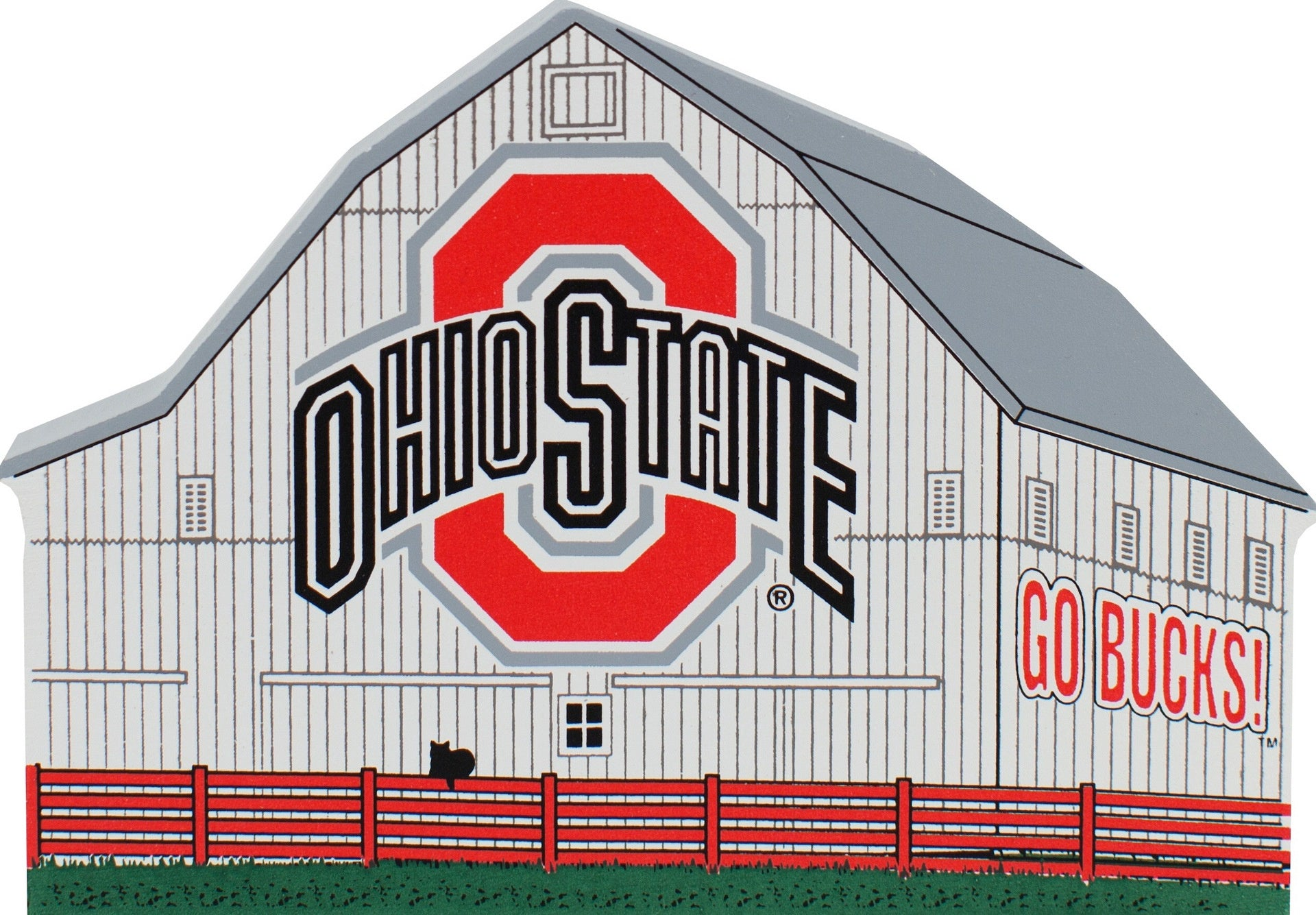 Ohio State Logo Buckeye Barn Wood Shelf Sitter - Celebrate Local, Shop The Best of Ohio