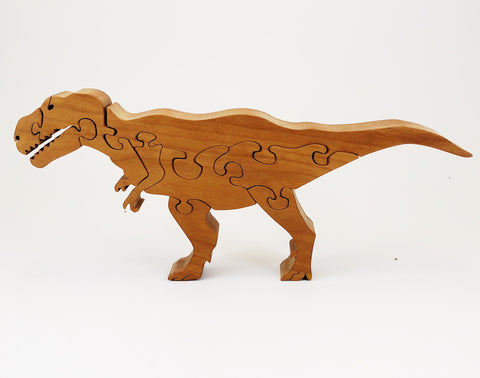 T-Rex Dinosaur Wood Puzzle - Celebrate Local, Shop The Best of Ohio