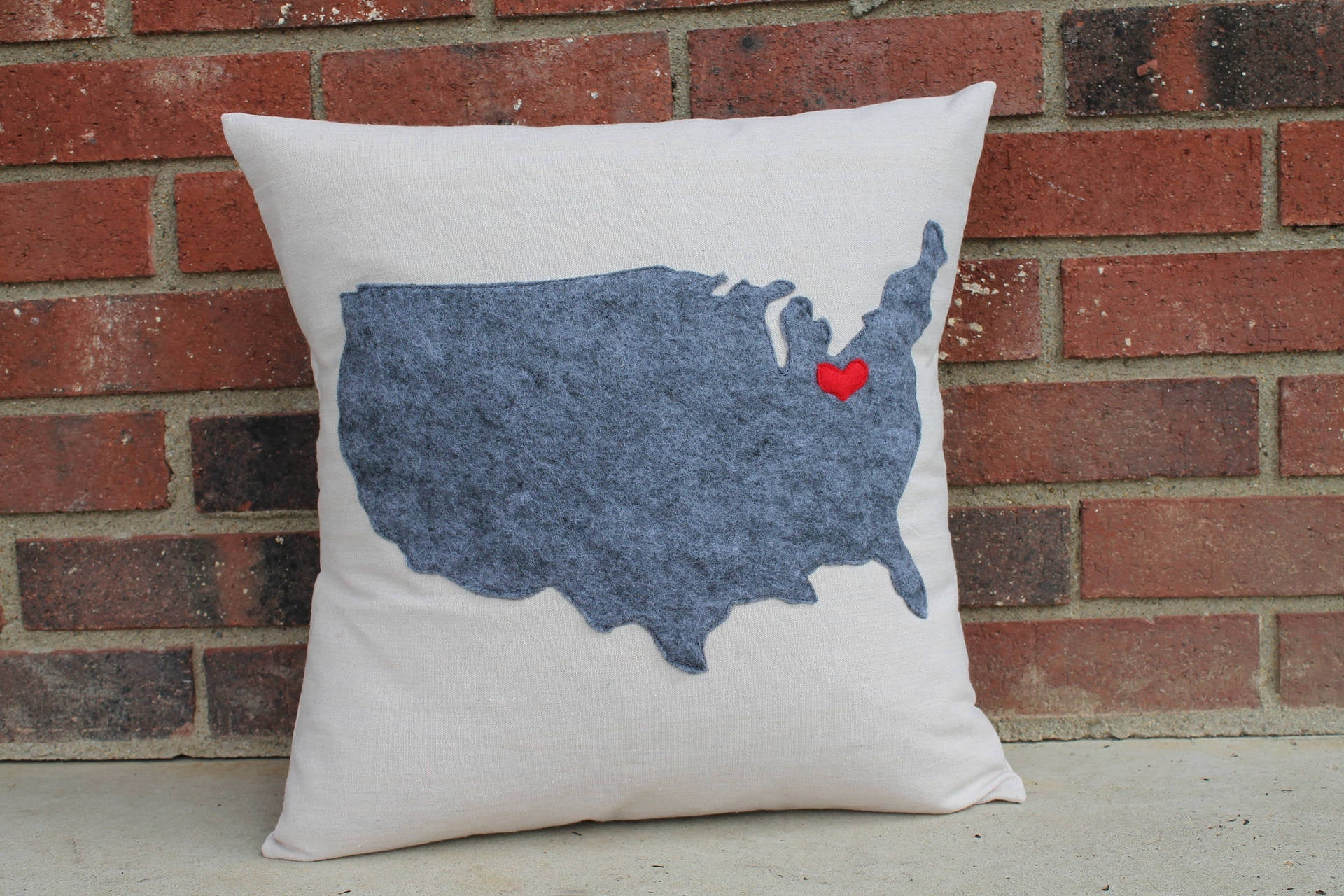 USA Ohio Love Handmade Pillow 16 Inch - Celebrate Local, Shop The Best of Ohio