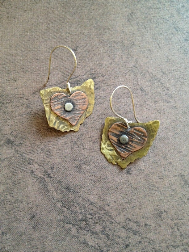 Ohio Heart Copper Earrings - Celebrate Local, Shop The Best of Ohio