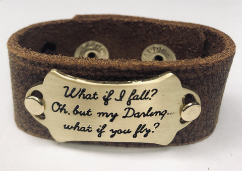 What If You Fly Inspiration Leather Bracelet  1in