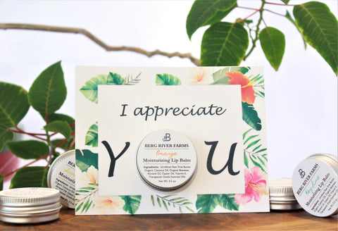I Appreciate You Greeting Card with Lip Balm