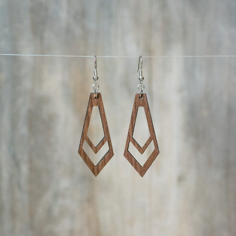 Natural Walnut On The Mark Earring - Celebrate Local, Shop The Best of Ohio