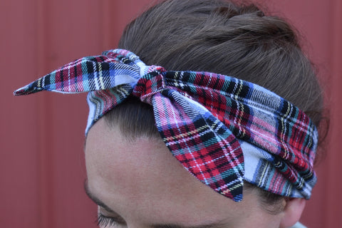 Handmade Flannel Headband with Cute Bow - Celebrate Local, Shop The Best of Ohio
