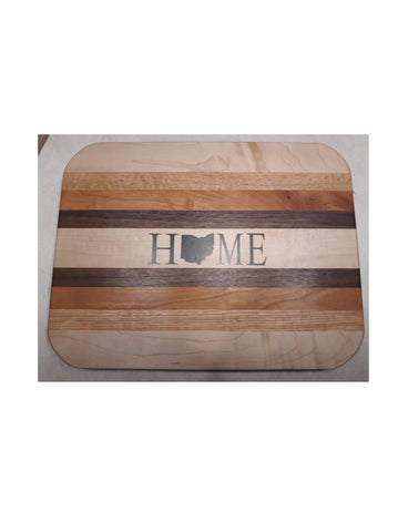 Resin Filled HOME Cutting Board - Celebrate Local, Shop The Best of Ohio