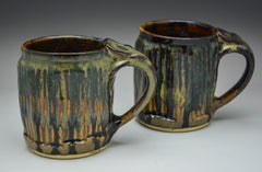 Faceted Waterfall Hand Thrown Ceramic Mug - Celebrate Local, Shop The Best of Ohio