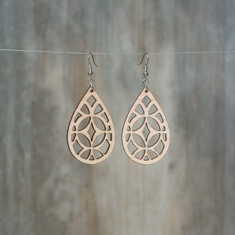 Natural Maple Mosaic Earring - Celebrate Local, Shop The Best of Ohio