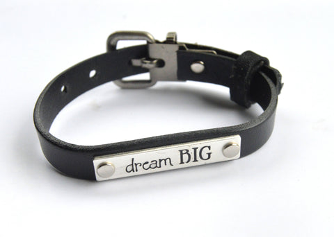 Leather Bracelet with Inspiration Tag - Celebrate Local, Shop The Best of Ohio