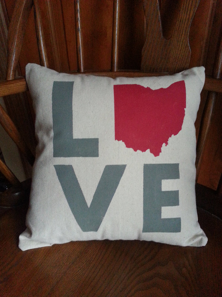 Ohio Love Pillow - Celebrate Local, Shop The Best of Ohio