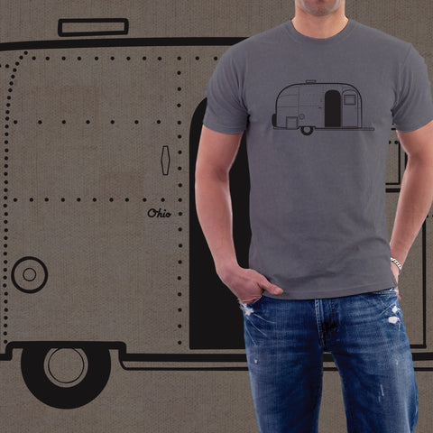 Airstream Ohio Vintage Mens T-Shirt - Celebrate Local, Shop The Best of Ohio