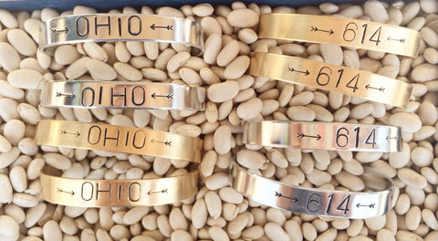 Brass Cuff Bracelet (Various Ohio Styles) - Celebrate Local, Shop The Best of Ohio