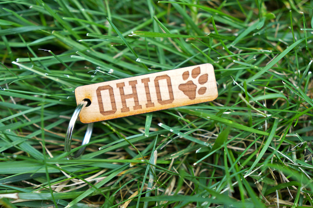Ohio Bobcat Paw Print Key Chain - Celebrate Local, Shop The Best of Ohio