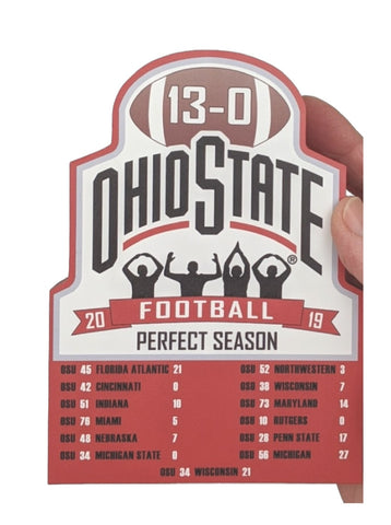 OSU 2019 Perfect Season Wood Shelf Sitter