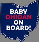 Baby Ohioan On Board Vinyl Magnet - Celebrate Local, Shop The Best of Ohio