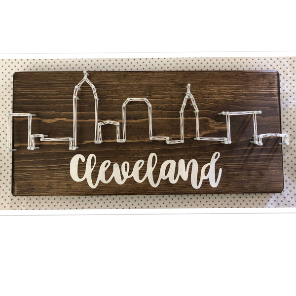 Ohio City Skyline String Art 5 in x 12 in (Variety of Cities)
