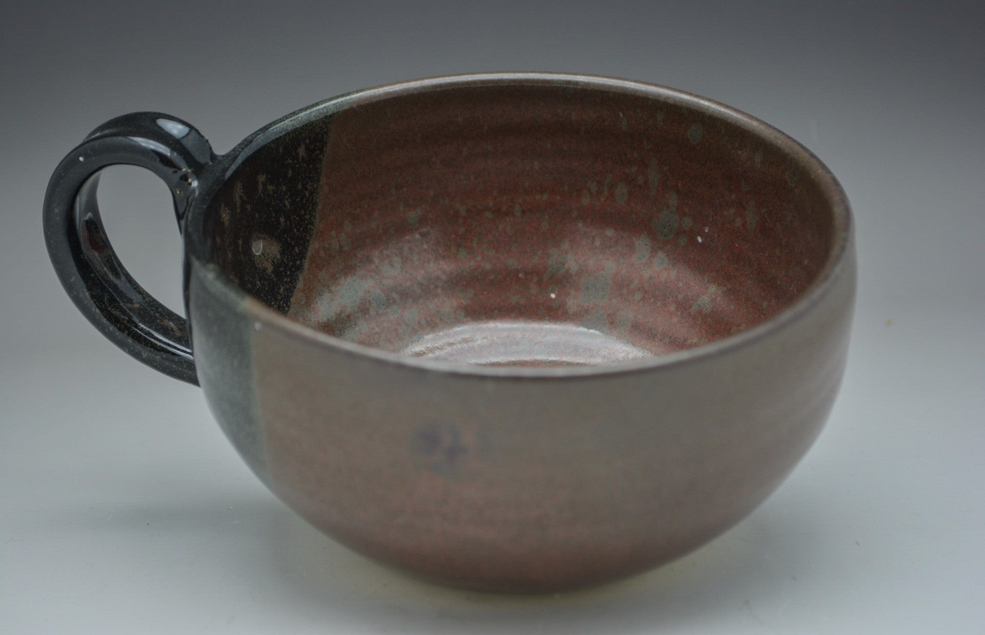 Rusty Hand Thrown Ceramic Soup Bowl