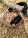 Black Gecko Print Suede Hook Bracelet - Celebrate Local, Shop The Best of Ohio