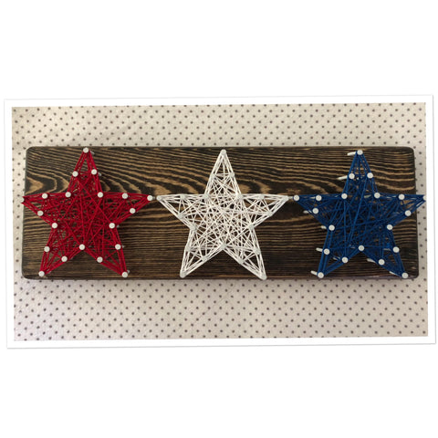 American Stars String Art 3 in x 10 in - Celebrate Local, Shop The Best of Ohio