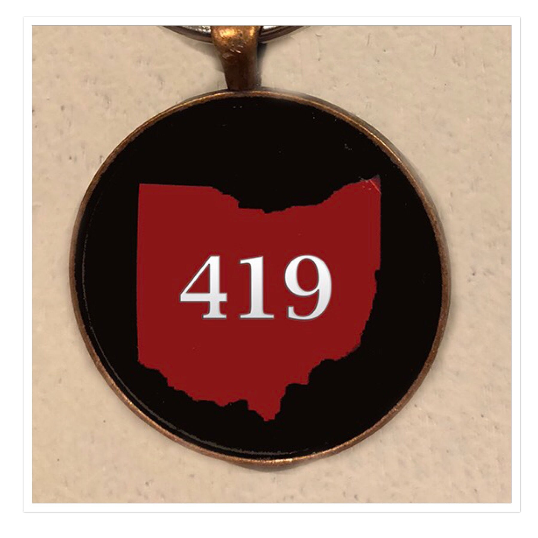 Ohio Area Code Key Chain (Variety of Area Codes)