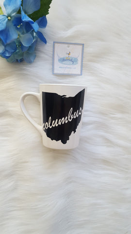 Columbus - State of Ohio Outline Coffee Mug - Celebrate Local, Shop The Best of Ohio