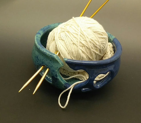 Seascape Hand Thrown Ceramic Yarn Bowl - Celebrate Local, Shop The Best of Ohio