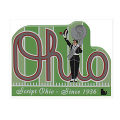 Script Ohio Wood Shelf Sitter - Celebrate Local, Shop The Best of Ohio