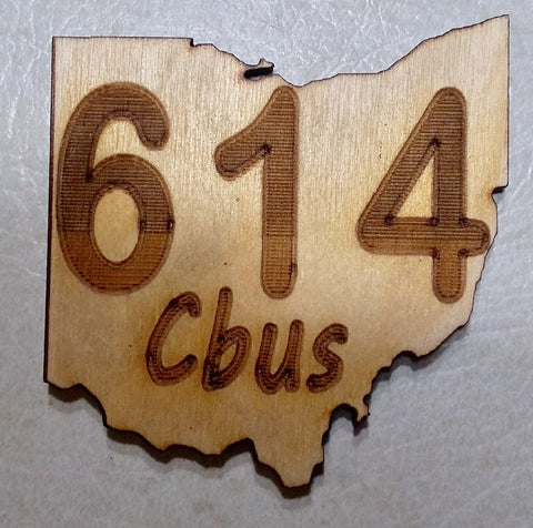 Columbus 614 Wood Coaster - Celebrate Local, Shop The Best of Ohio