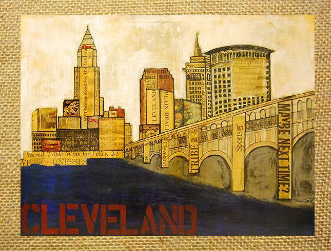 Cleveland Cityscape Print 8x10 - Celebrate Local, Shop The Best of Ohio