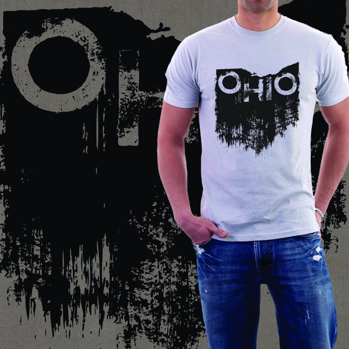 Distressed Ohio Vintage T-Shirt - Celebrate Local, Shop The Best of Ohio