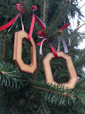 Block O Carved Cherry Wood Ornament - Officially Licensed by The Ohio State University - Celebrate Local, Shop The Best of Ohio
