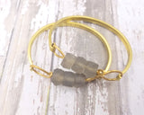 Recycled Glass Bangle Bracelet (Variety of Bead Colors) - Celebrate Local, Shop The Best of Ohio
