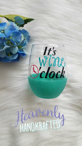 It's Wine O'Clock Stemless Wine Glass - Celebrate Local, Shop The Best of Ohio