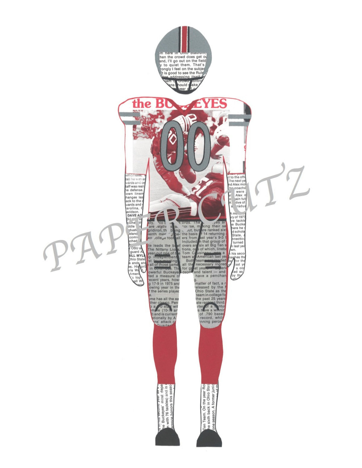 Ohio State Football Player Vintage Print 11 x 17 - Celebrate Local, Shop The Best of Ohio