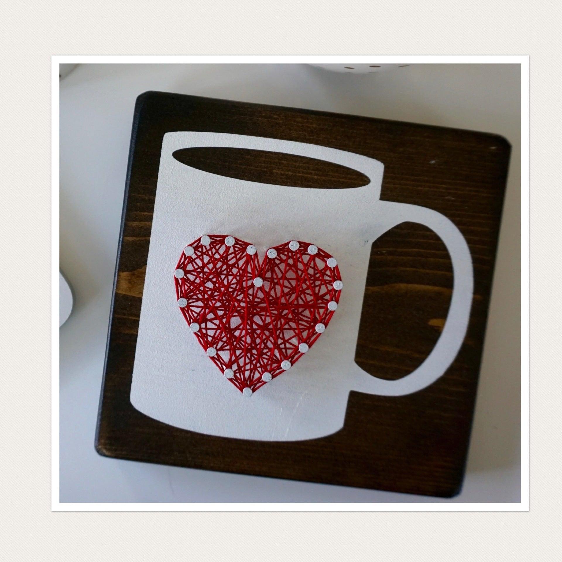 Coffee Heart String Art - Celebrate Local, Shop The Best of Ohio
