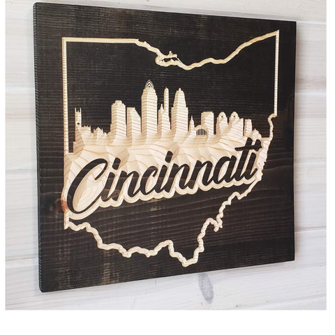 Ohio Cities Skyline Wood Wall Art - Celebrate Local, Shop The Best of Ohio