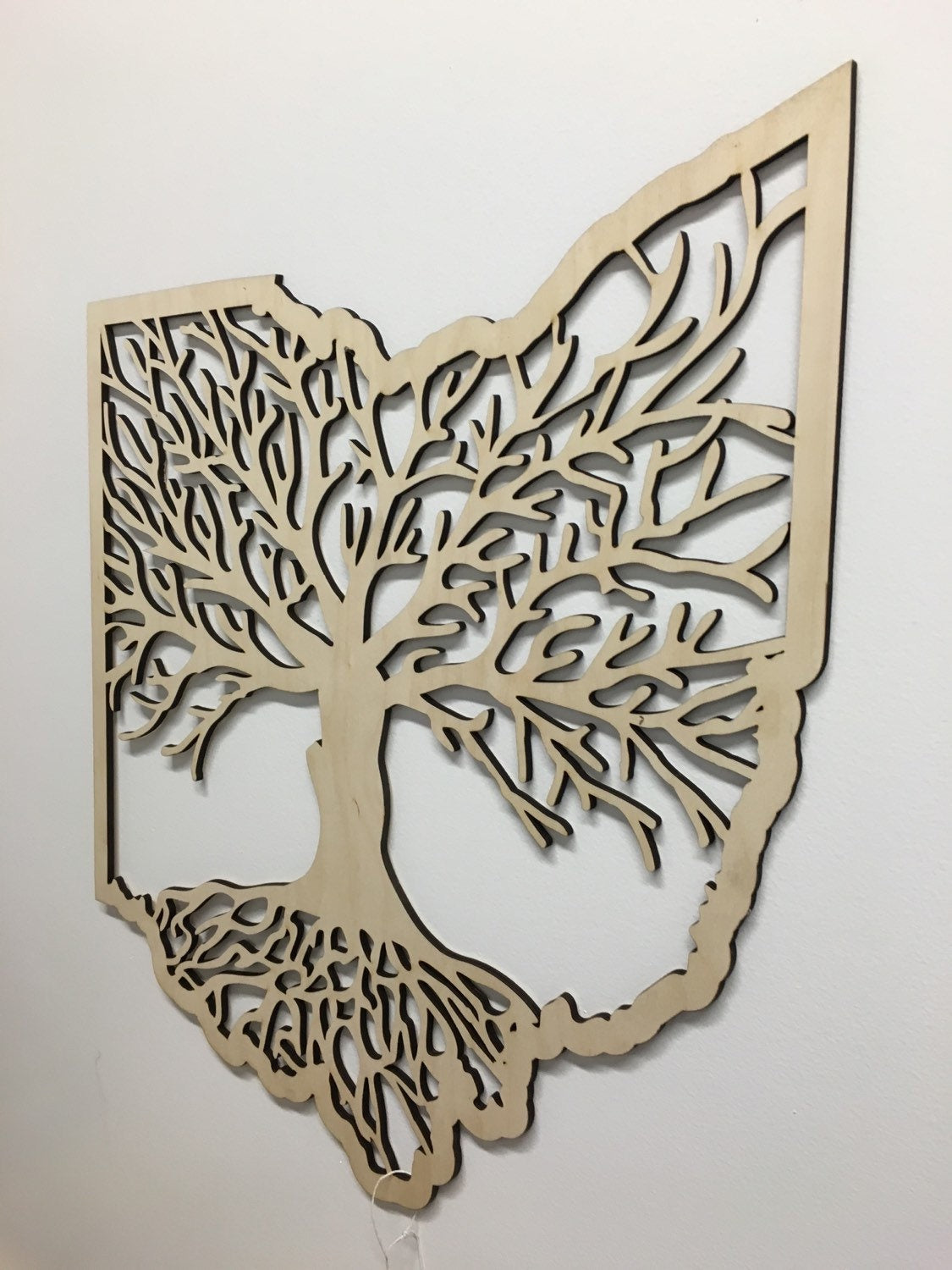 Ohio Roots Wood Tree 12x12 (Various Colors) - Celebrate Local, Shop The Best of Ohio