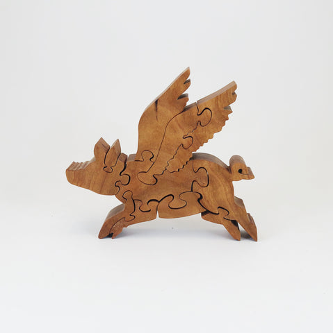 Flying Pig Wood Puzzle - Celebrate Local, Shop The Best of Ohio