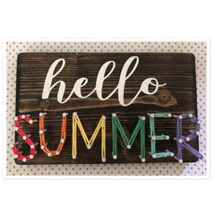 Hello Summer String Art 4in x 7in
